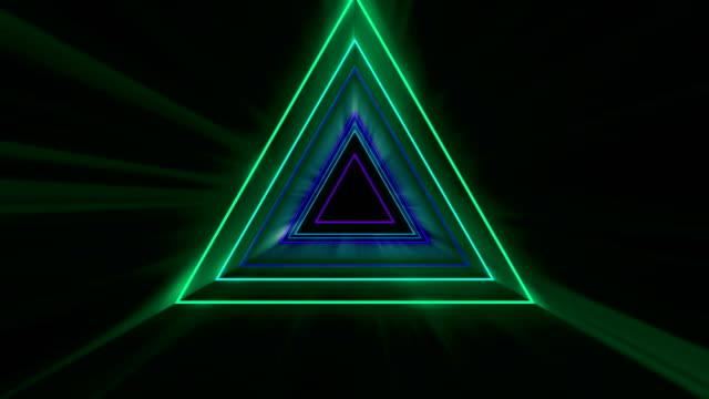 vídeos y material grabado en eventos de stock de arrow glowing neon lights fondo abstracto - loopable stock video - videojockey