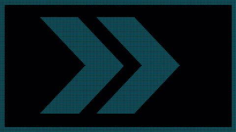 stockvideo's en b-roll-footage met pijl led scherm - arrow symbol