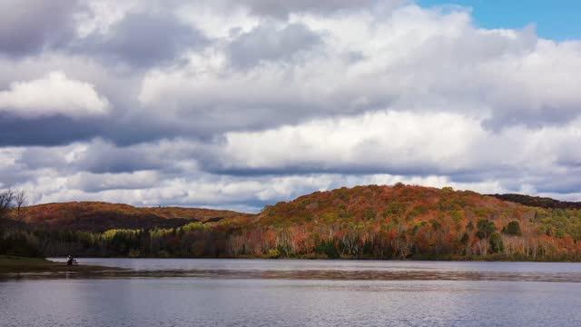 arrowhead provincial park timelapse - lake stock videos & royalty-free footage
