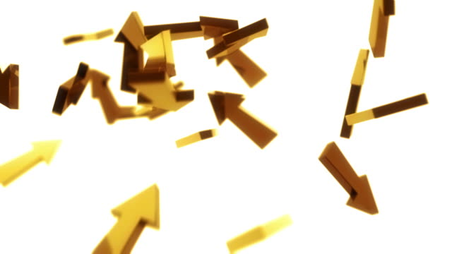 3D Arrows Background Loop - Golden (Full HD)