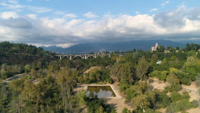 arroyo seco and colorado bridge - pasadena california stock videos & royalty-free footage