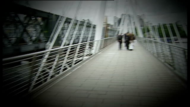 investigating; graphicised reconstruction of route across hungerford bridge - hungerford bridge stock videos & royalty-free footage