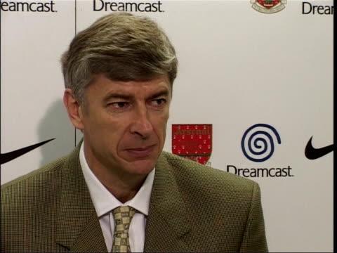 Arsene Wenger press conference ENGLAND London London Colney INT Arsene Wenger press conference SOT