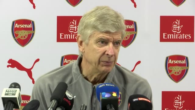 Arsene Wenger welcomes Danny Wellback's return from injury ENGLAND London INT Arsenal Manager Arsene Wenger press conference SOT comments on return...