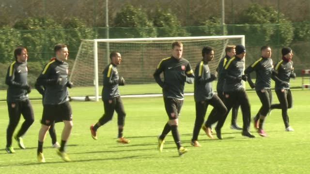 Arsenal FC trained Tuesday morning ahead of the second leg of their Champions League clash at Bayern Munich Wednesday for the last 16 Having lost the...