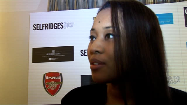 arsenal footballers attend charity event at claridge's; v.v. brown interview sot - on her new material, what we can expect from her new album / says... - the x factor stock videos & royalty-free footage