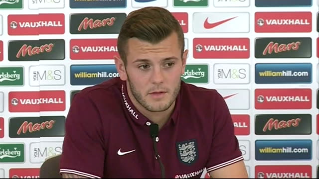 Jack Wilshere praises new teammate Danny Welbeck ENGLAND Staffordshire St George's Park INT Jack Wilshere press conference SOT