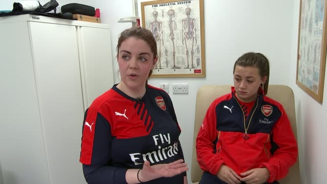 Arsenal Ladies get their own training facilities ENGLAND Hertfordshire London Colney INT Mary Shiels putting unidentified Arsenal Ladies player...