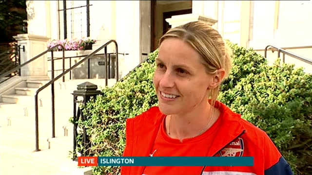 Arsenal Ladies given special reception at Islington Town Hall Kelly Smith interview SOT