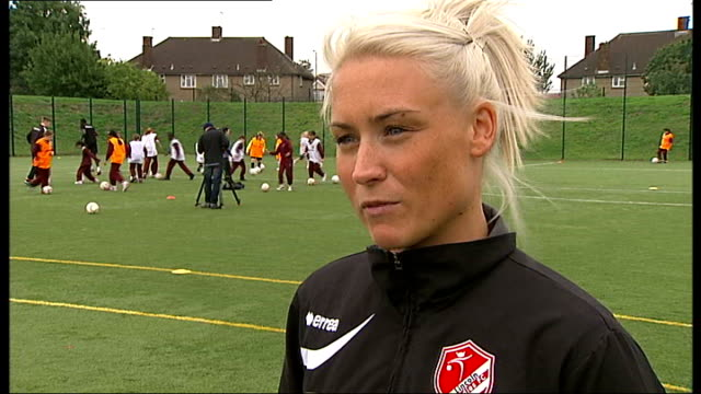 Arsenal Ladies prepare for Continental Cup Final Megan Harris interview SOT