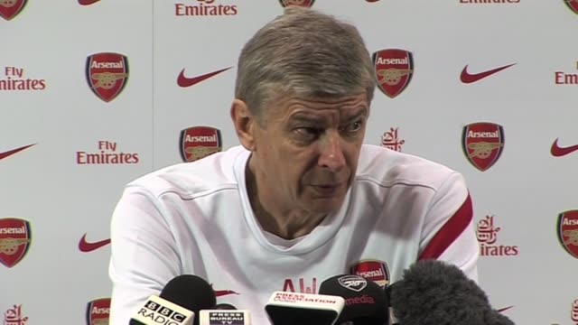 arsenal manager arsene wenger on race rows blatter and his side's current form at colney on november 19 2011 in london england - アーセン・ベンゲル点の映像素材/bロール