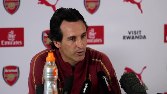 Arsenal Manager Unai Emery gives a press conference ahead of their game against West Ham In it he talks about Jack Wilshire PierreEmerick Aubameyang...
