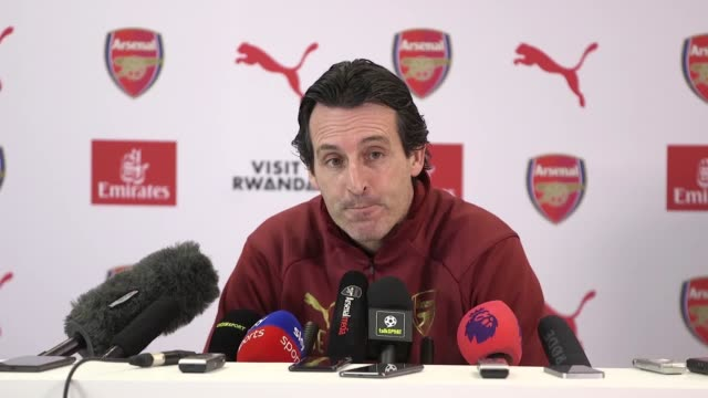 Arsenal manager Unai Emery previews his side's match against Cardiff in the Premier League The two club face each other on January 29