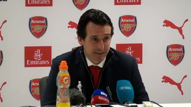Arsenal manager Unai Emery reacts to win 20 over Chelsea The win puts Arsenal fifth in the Premier League with 44 points