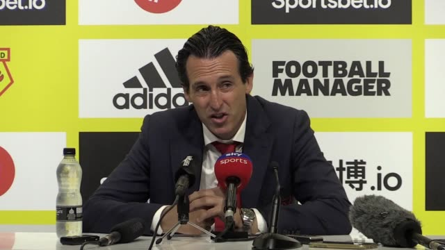 arsenal manager unai emery says his side needs to improve following a 2-2 draw with watford. a first-half brace from pierre-emerick aubameyang looked... - interval start stock videos & royalty-free footage