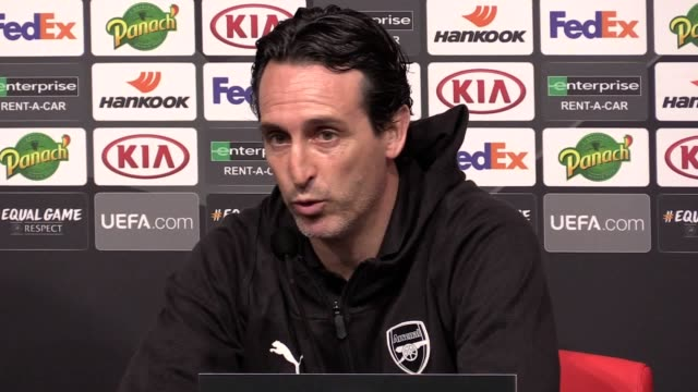 Arsenal press conference with head coach Unai Emery and midfielder Matteo Guendouzi ahead of the Europa League match against Rennes