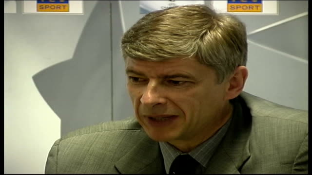 Arsenal train for Champions League match against Valencia ITN London INT Arsene Wenger speaking at pkf Lauren speaking at pkf