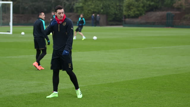Arsenal Training ahead of Barcelona fixture
