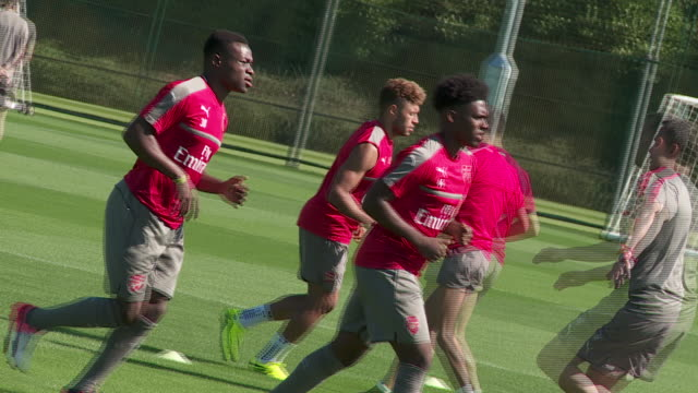 Arsenal training at London Colney before PL match vs Watford