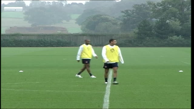 EXT General views of Arsenal football during team training on practice pitch including Thierry Henry