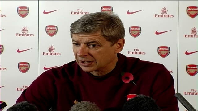 Arsenal v Manchested United preview Arsene Wenger press conference SOT discusses forthcoming Arsenal v Manchester United match