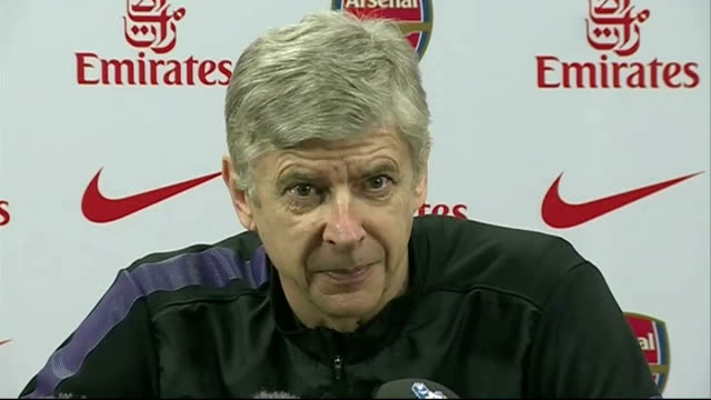 arsene wenger hopes theo walcott will stay at arsenal england london emirates stadium int arsene wenger press conference sot my gut feeling is that... - itv weekend lunchtime news点の映像素材/bロール