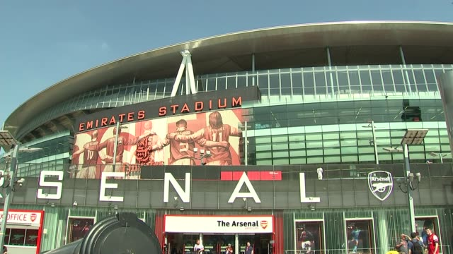 Arsene Wenger to leave Arsenal at end of season ENGLAND London Emirates Stadium EXT **Lyle interview partly overlaid SOT** Cast iron cannon statues...