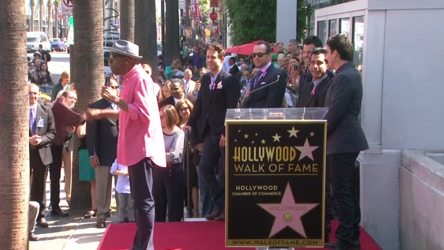 arsenio hall at new kids on the block honored with star on the hollywood walk of fame in hollywood, ca on - arsenio hall stock videos & royalty-free footage