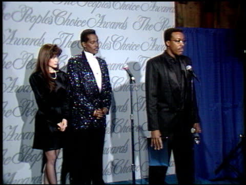 arsenio hall at the 1990 people's choice awards on march 11, 1990. - arsenio hall stock videos & royalty-free footage