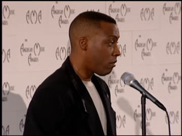 arsenio hall at the american music awards at the shrine auditorium in los angeles, california on january 29, 1996. - arsenio hall stock videos & royalty-free footage