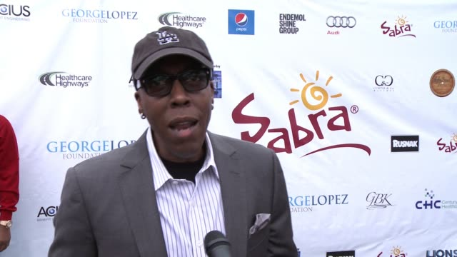 INTERVIEW Arsenio Hall on being a part of today what he appreciates about George and his philanthropic efforts at Lakeside Golf Club on May 04 2015...