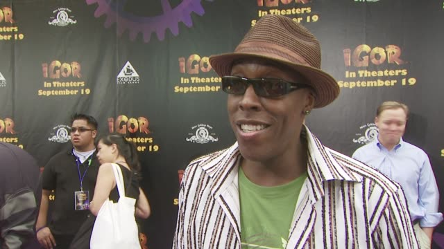 arsenio hall on why he wanted to be part of this film on the film appealing to all audiences and on what excites him most about the film at the igor... - arsenio hall stock videos & royalty-free footage