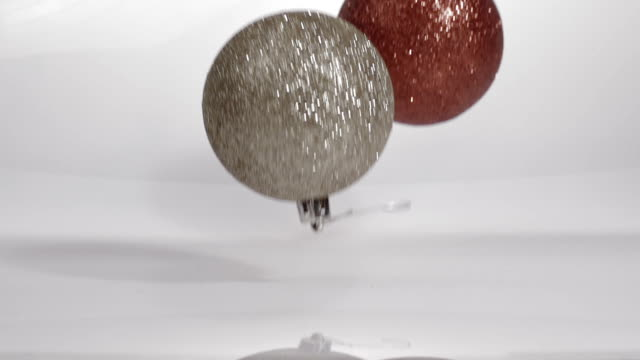 Art Abstract Background Two objects Bouncing Glitter ornaments
