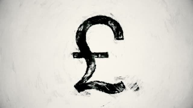 art british pound symbol - pound sterling symbol stock videos & royalty-free footage