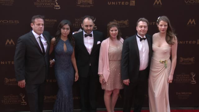 Art Brown Douglas Sloan Chad Hammes and Lawrence Jonas at the 43rd Annual Daytime Creative Arts Emmy Awards at Westin Bonaventure Hotel on April 29...