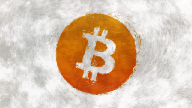 art cryptocurrency symbol bitcoin - bitcoin stock videos & royalty-free footage