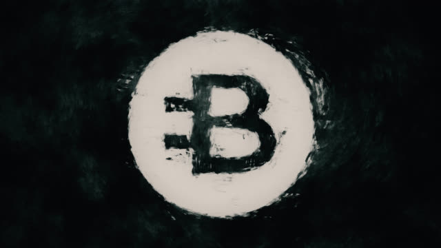art cryptocurrency symbol bytecoin - euro symbol stock videos and b-roll footage