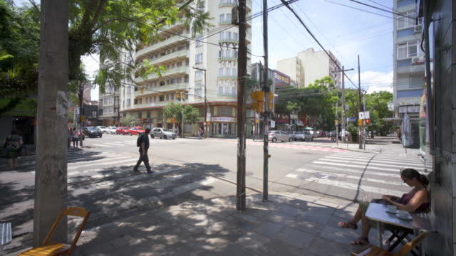art deco apartment block architecture, porto alegre, southern brazil. - alegre stock videos & royalty-free footage