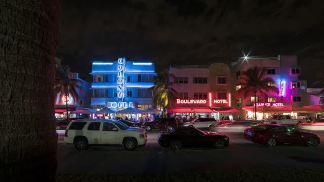art deco district miami - miami beach stock videos & royalty-free footage