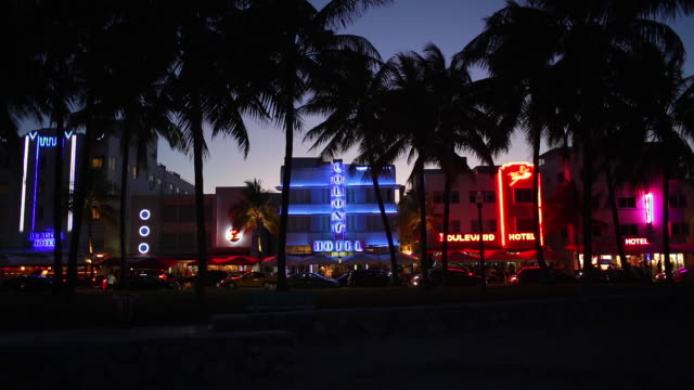 art deco district, ocean drive, south beach, miami beach, miami, florida, usa - south beach stock videos & royalty-free footage