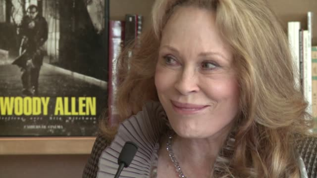 art is a war for humanity' hollywood legend faye dunaway told reporters during an impromptu acting masterclass today in cannes cannes alpesmaritimes... - faye dunaway stock videos and b-roll footage