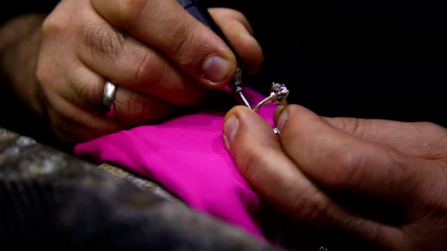 art of making a jewel - engagement ring stock videos and b-roll footage