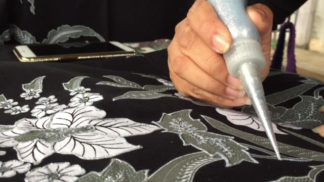 art painting on silk cloth - skill stock videos & royalty-free footage