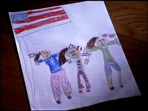 art with american flag and people - female likeness stock videos & royalty-free footage