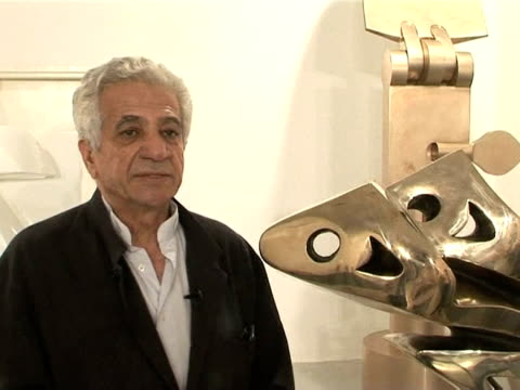 art works of iranian filmmaker and photographer abbas kiarostami as well as by sculptor parviz tanavoli have gone on display at a joint exhibition in... - kunst, kultur und unterhaltung stock-videos und b-roll-filmmaterial