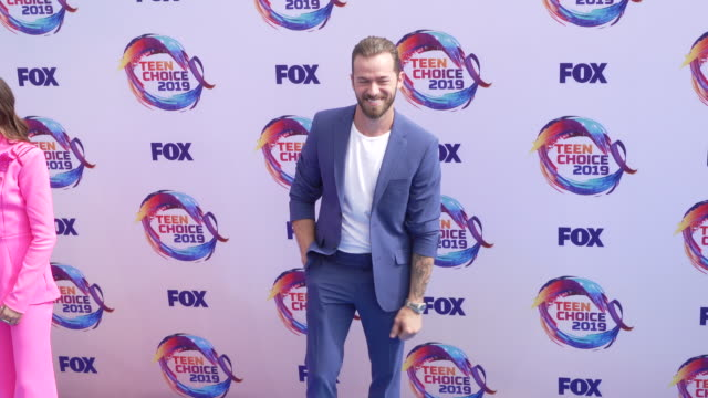 artem chigvintsev at the teen choice 2019 on august 11 2019 in hermosa beach california - annual teen choice awards stock videos & royalty-free footage