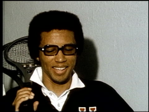 Arthur Ashe Discusses Facing Rod Laver at New York on June 01 1971 in New York New York