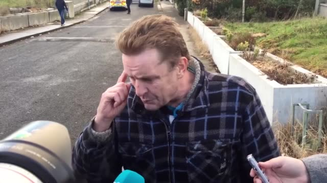 Arthur Collins describes the incident where his son and grandson were shot at in Parslickstown West Dublin They have both been taken to hospital for...
