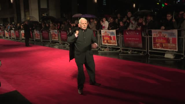 "arthur nightingale at ""song for marion"" premiere: 56th bfi london film festival at odeon west end on october 19, 2012 in london, england - nightingale stock videos & royalty-free footage"