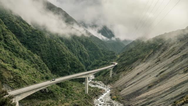 arthur pass mountain range - new zealand stock videos & royalty-free footage